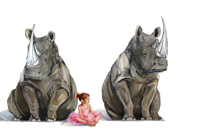 McKenzie Fisk: rhinos