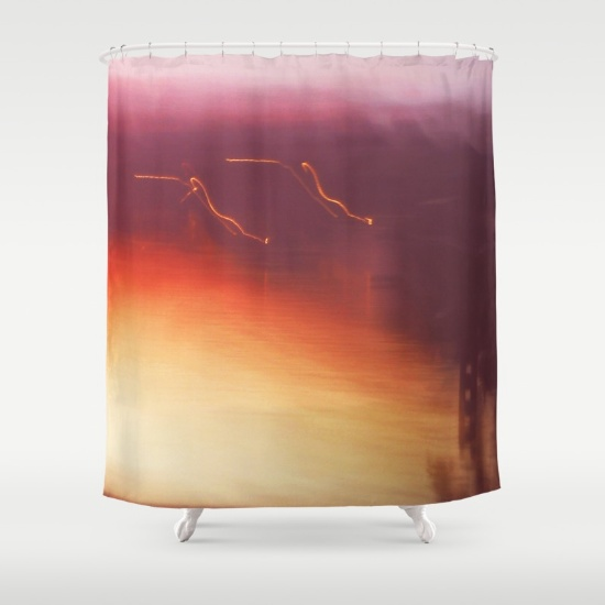 ghosty-sunset-shower-curtains