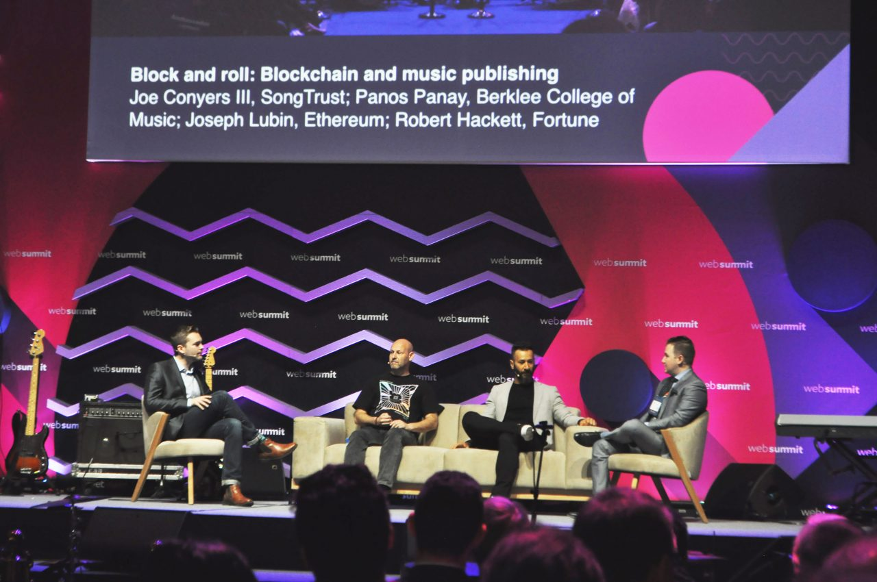 Blockchain in the music industry - a panel talk at Music Notes, Websummit 2017