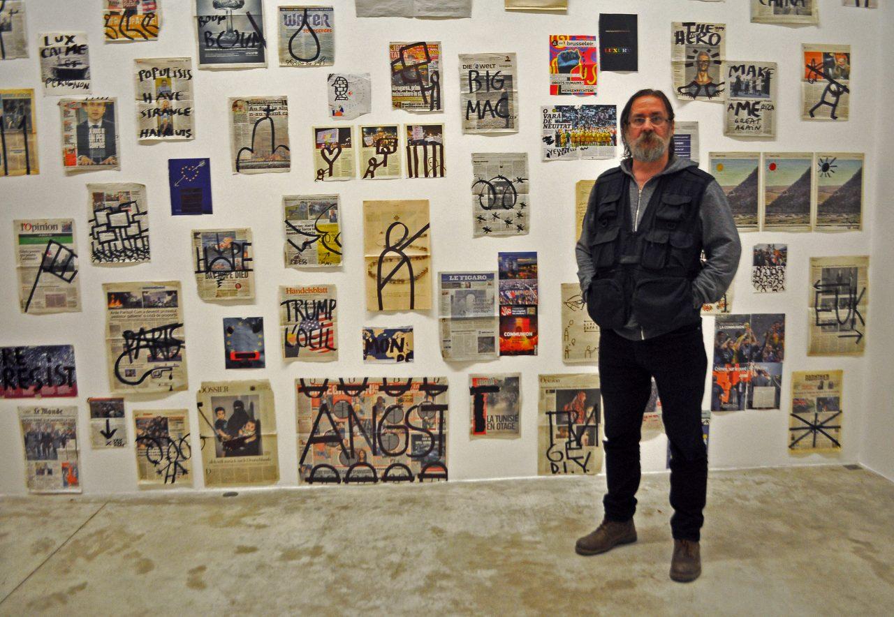 Dan Perjovschi Le mur apres le mur apres le mur - portret - 2 feb 2019 - Raluca Turcanasu