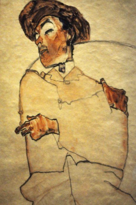 Egon Schiele Man Fondation Louis Vuitton Raluca Turcanasu