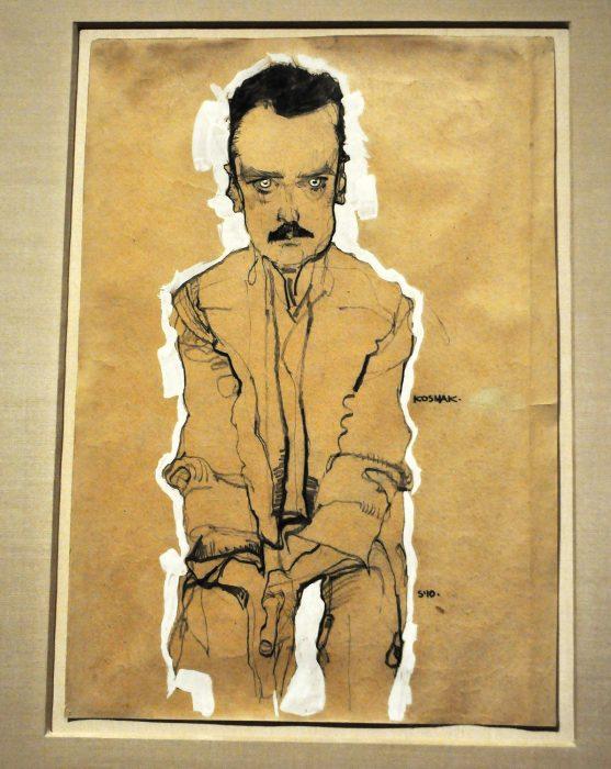 Egon Schiele Portrait of Eduard Kosmack Fondation Louis Vuitton Raluca Turcanasu ra-luca.me full