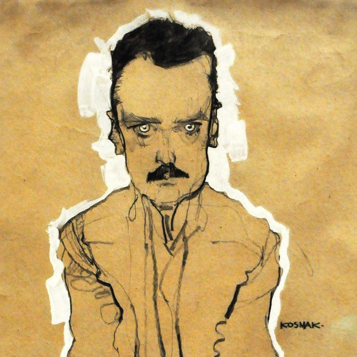 Egon Schiele Portrait of Eduard Kosmack crop Fondation Louis Vuitton Raluca Turcanasu ra-luca.me full