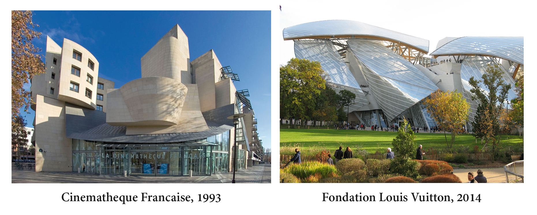 Frank Gehry - Cinematheque Francaise, Fondation Louis Vuitton