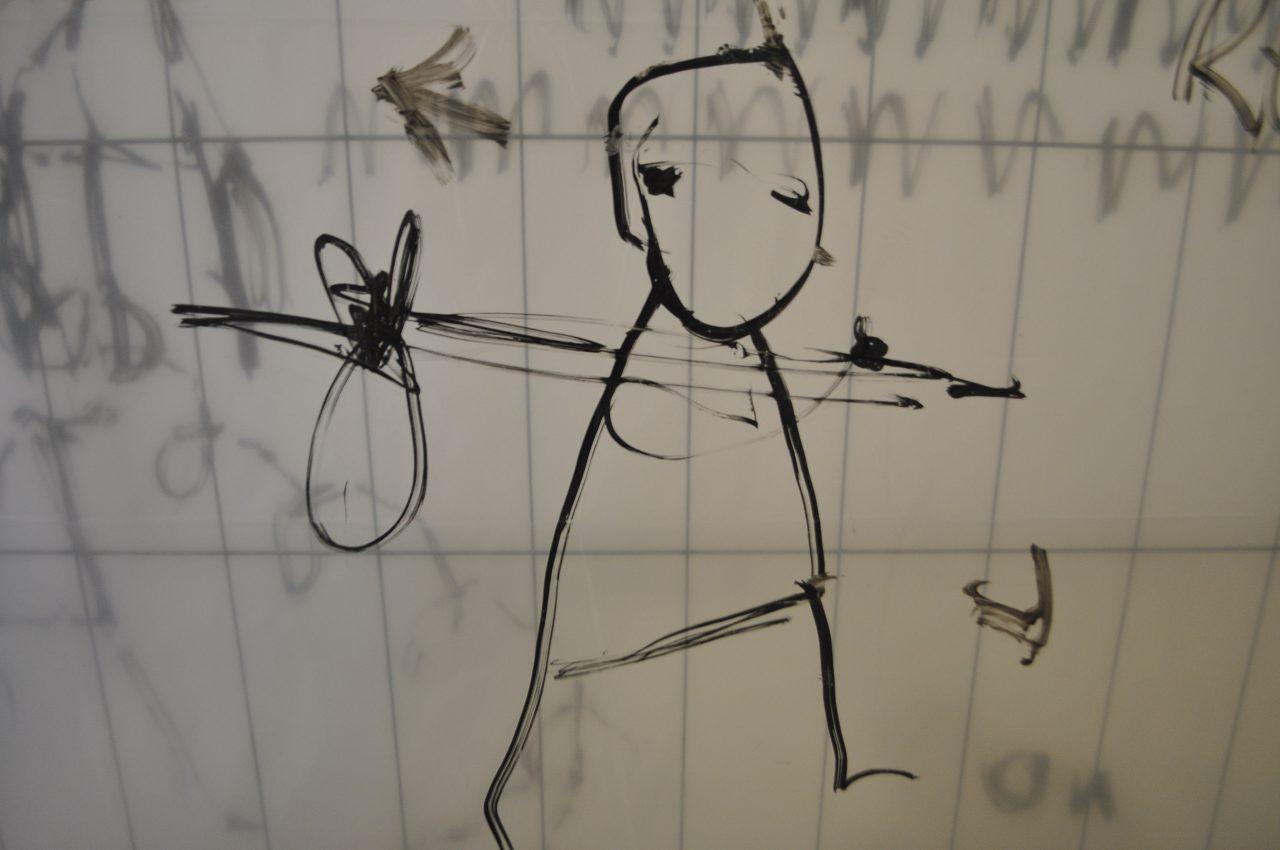 Le mur apres le mur apres le mur - Dan Perjovschi Galerie Michel Rein - 2.02.19- photo Raluca Turcanasu (29)