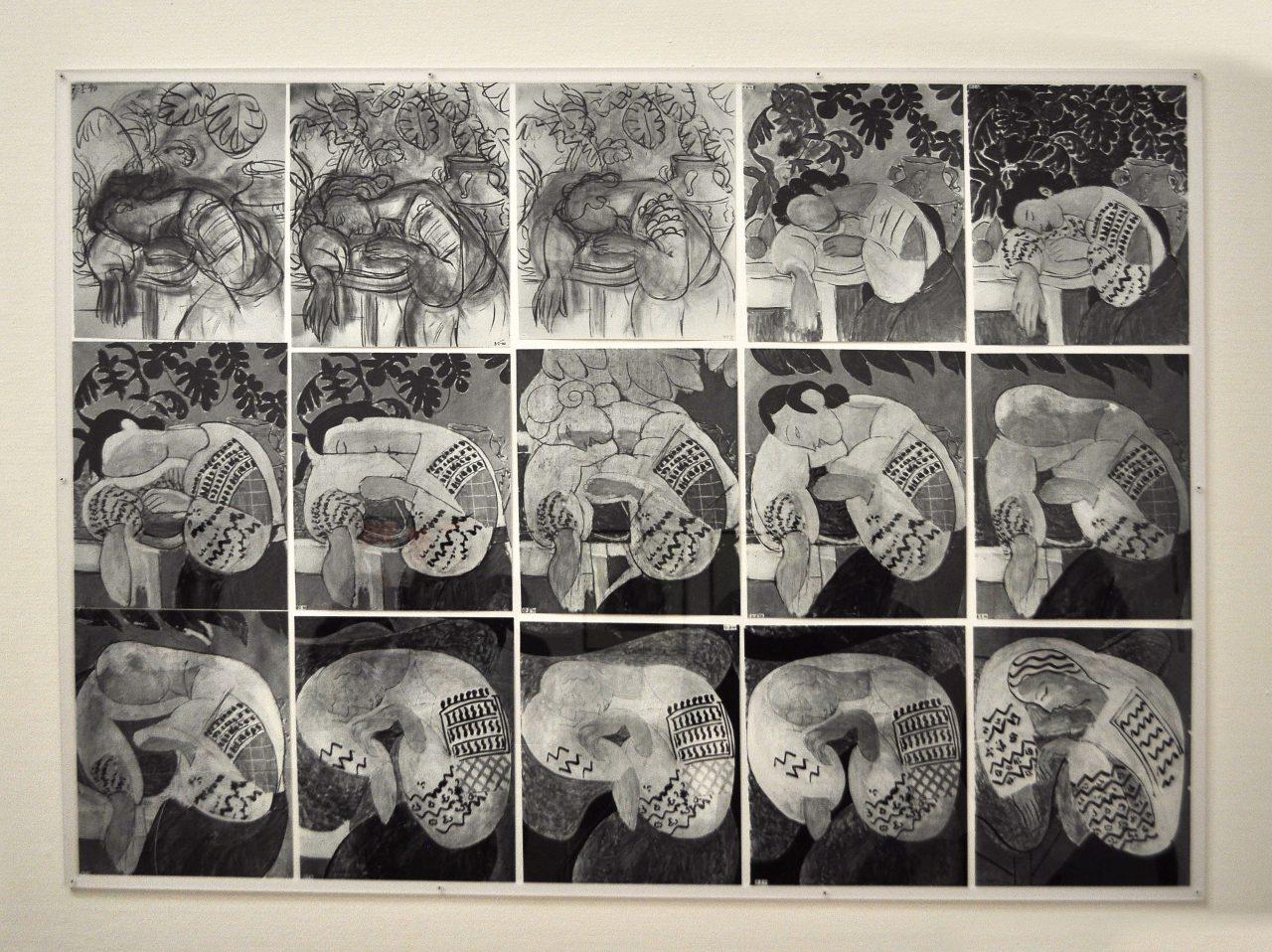 La Dormeuse: schițe ale lucrării lui Matisse, trimise la București, lui Palady