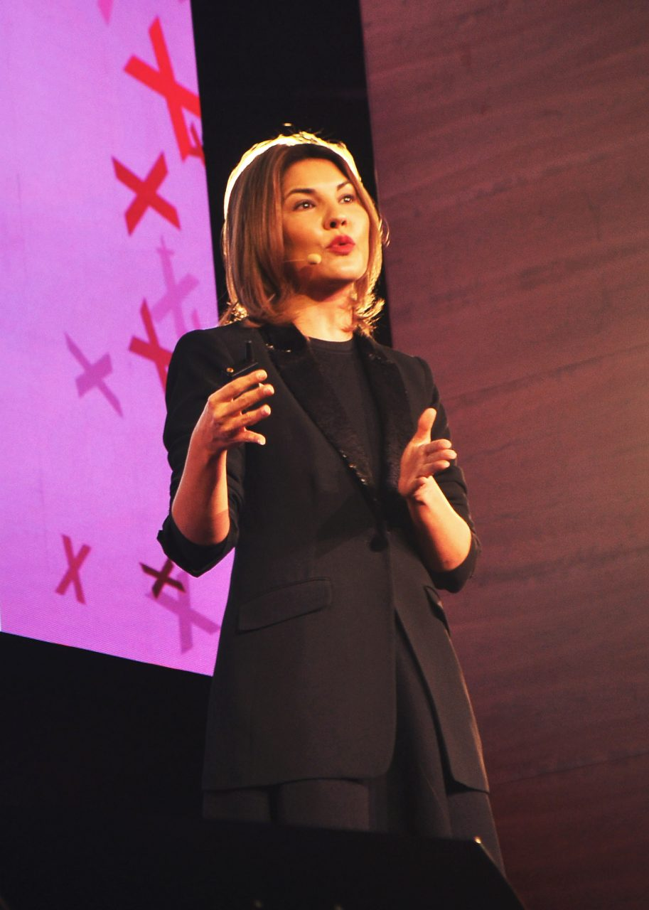 Nadya at TEDxBucharest. Photo: Raluca Țurcanașu.