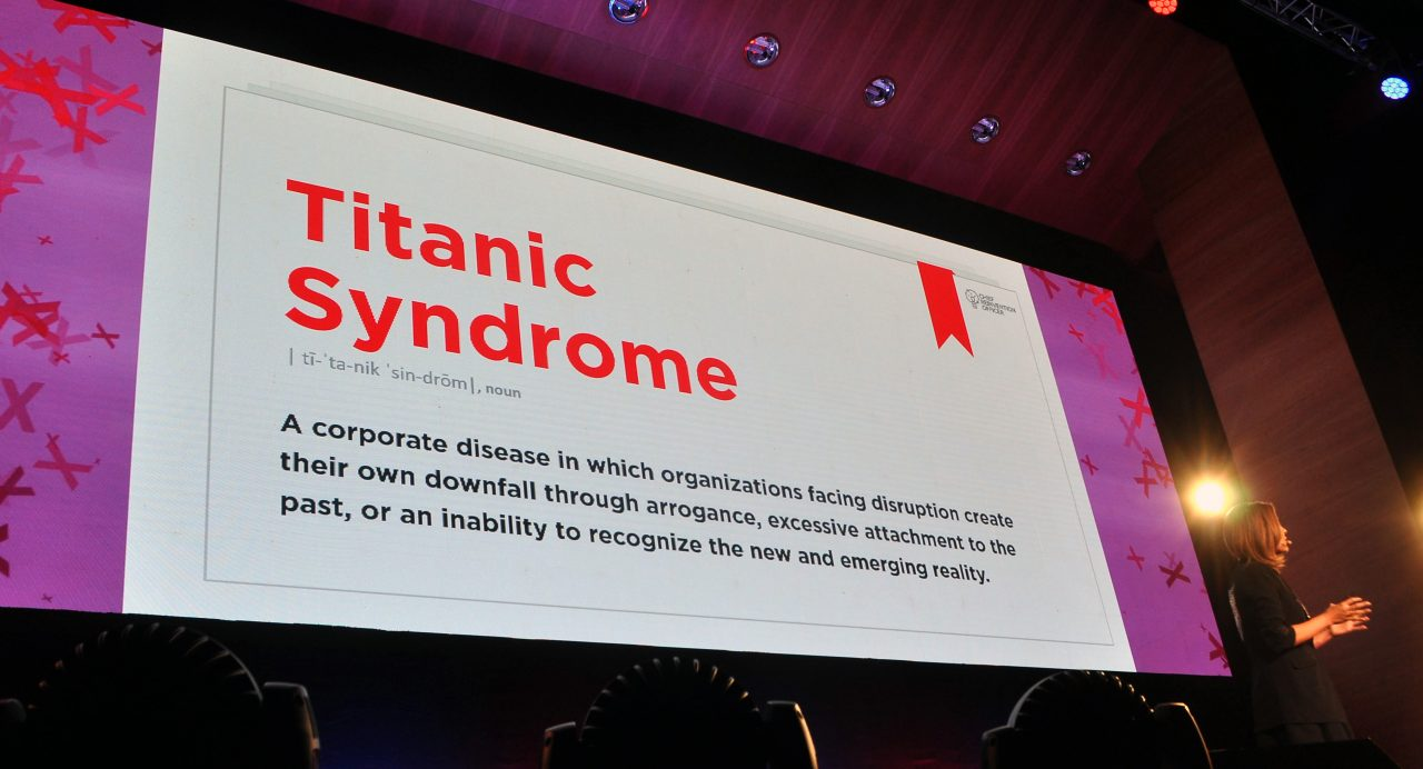 The Titanic Syndrome: Nadya Zhexembayeva at TEDxBucharest. Photo: Raluca Țurcanașu