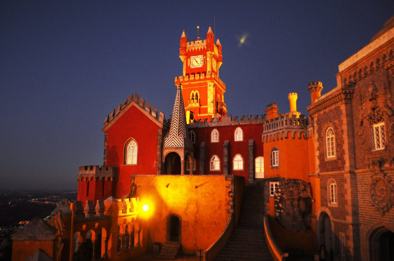 Pena Palace after Sunset Ra-Luca.Me