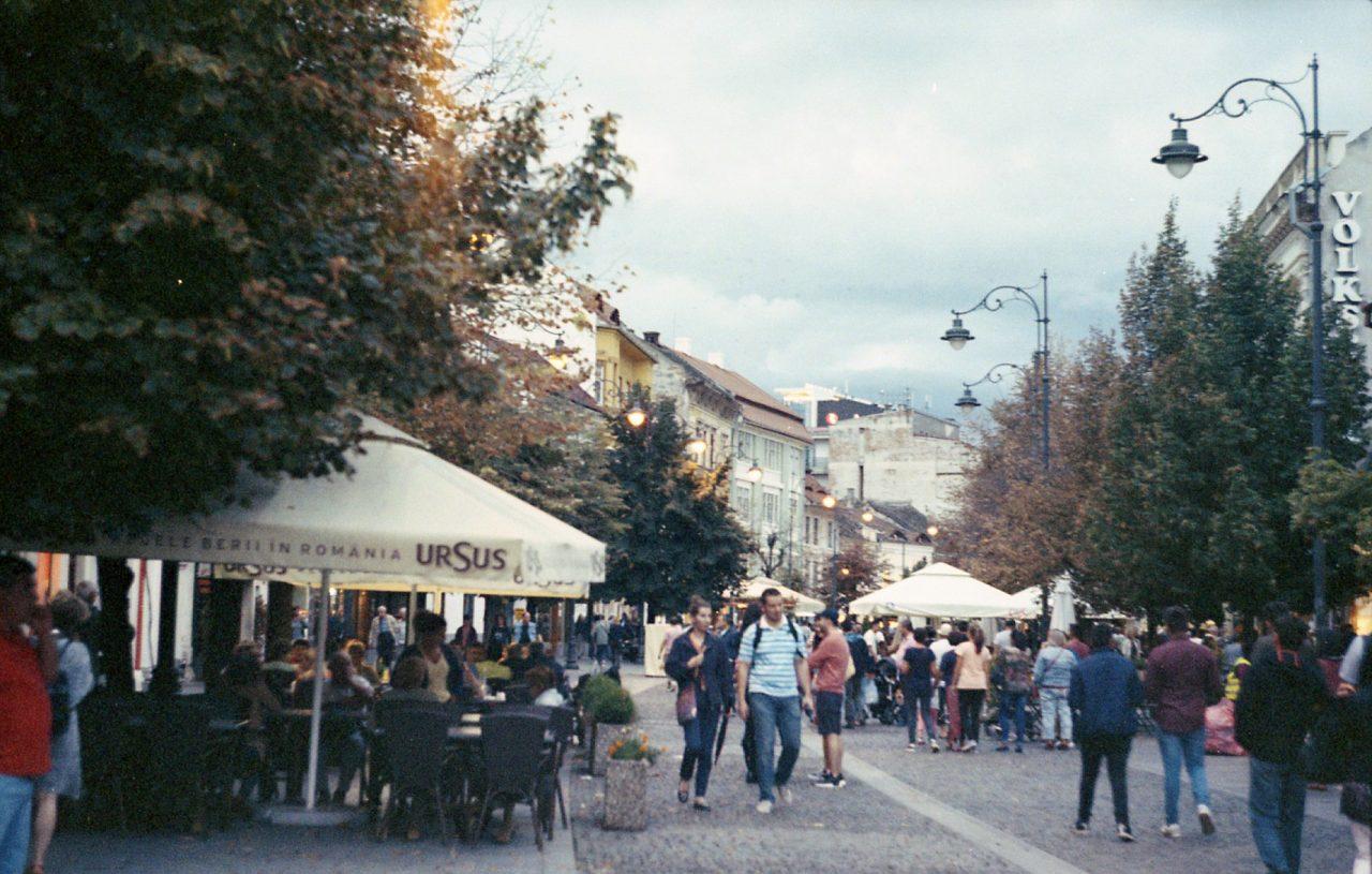 Sibiu's main pedestrian street