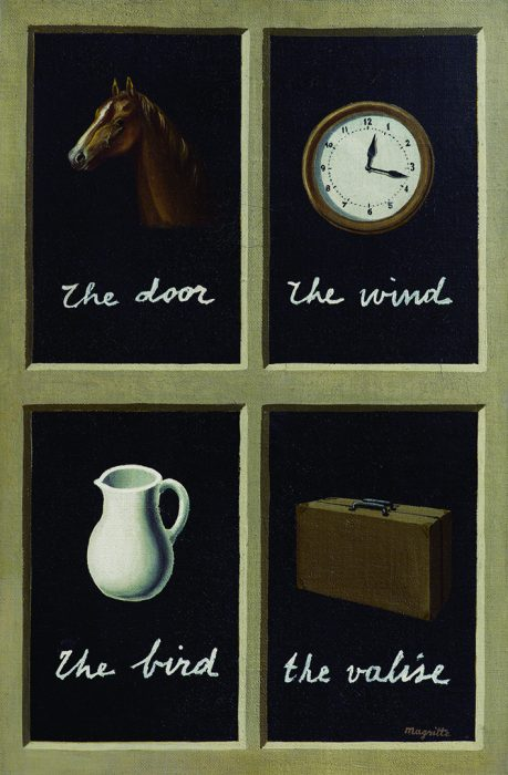René Magritte, La clef des songes, 1935 Huile sur toile, 41 x 27 cm, Collection Jasper Johns. © Adagp, Paris 2016.